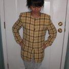 Yellow Checkered Blazer