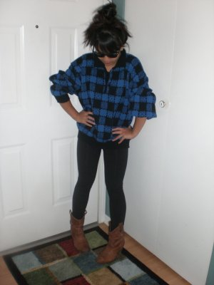 Vintage Checkered Sweater