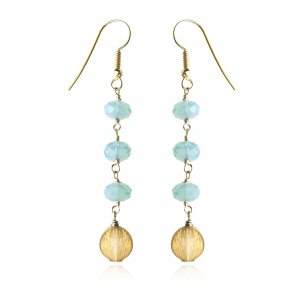 SWAROVSKI GOLD FILLED PACIFIC OPAL DISC EARRINGS