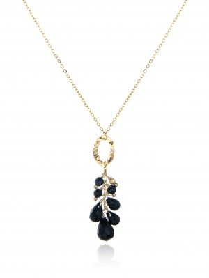 GOLD-FILLED BLACK ONYX NECKLACE