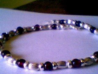 Genuine Garnet and Solid Sterling Silver Bracelet