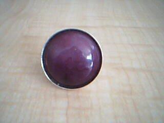 Big Purple Mountain Jade Adjustable Fashion Ring