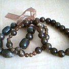 Acrylic Brown Fashion Bracelet Set