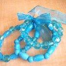 Acrylic Light Blue Fashion Bracelet Set