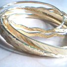 Gold Bangle Bracelets, Set of 6
