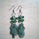 Green Dangle Earrings