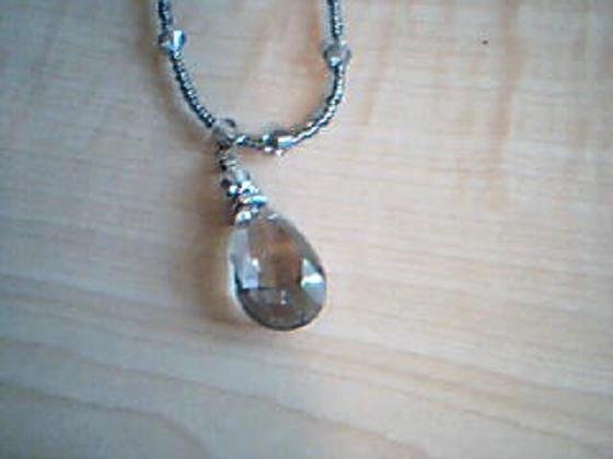 Smokey Grey Fashion Necklace w/ Matching Earrings