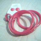 Child's Dark Pink Bracelet, Earring, Ring Set
