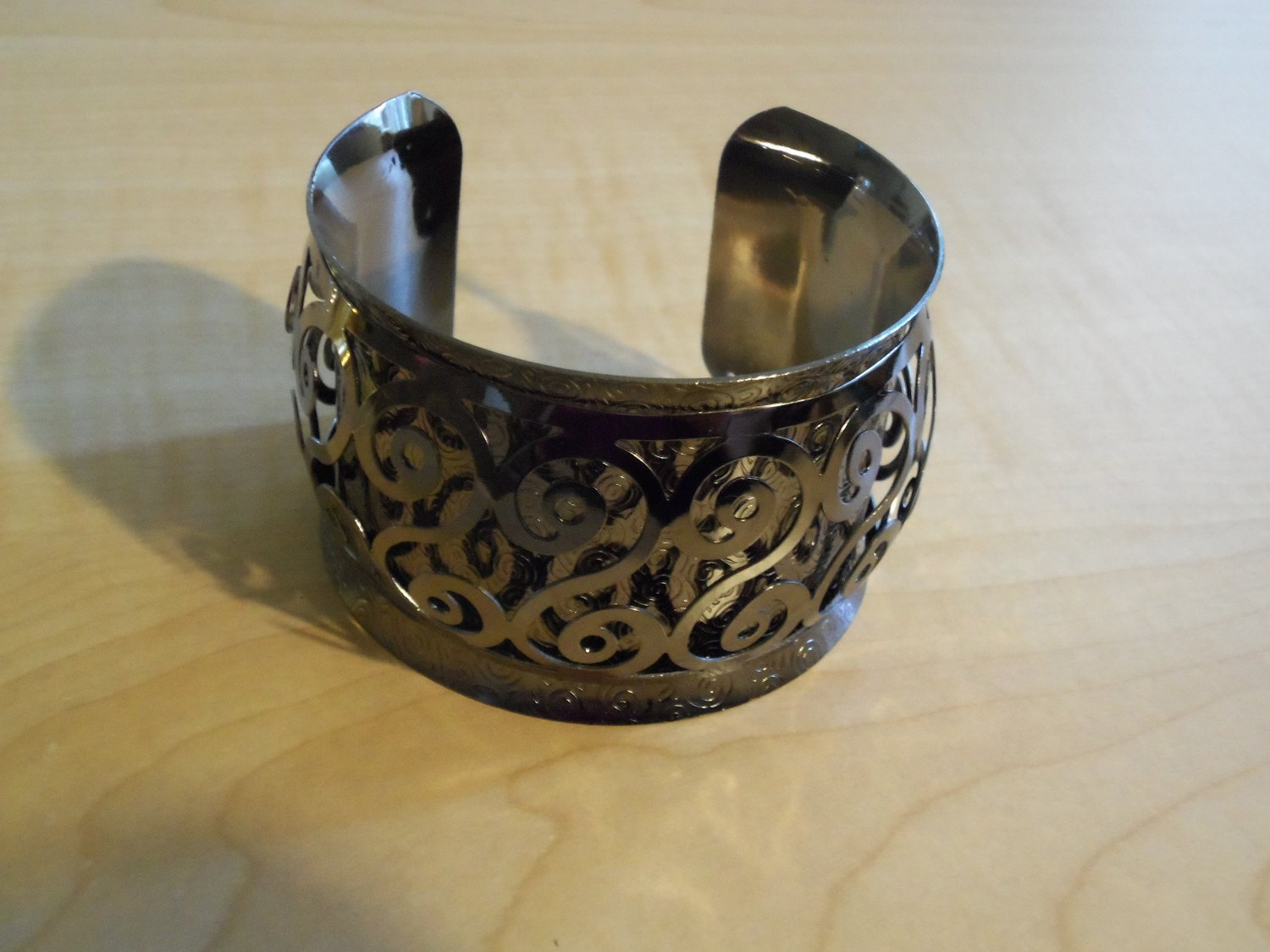 Pewter Colored Cuff Bracelet