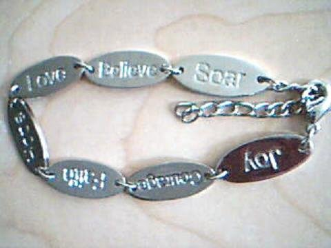 Inspirational Words Bracelet