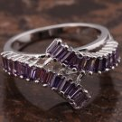 Purple Baguette Ring - Size 7