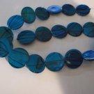 Blue Shell 19mm Beads - 1 Strand