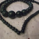 Green Graduated Mountain Jade Strand