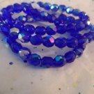 Blue Facated Round Beads