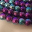 Purple and Blue 8mm Glass Beads - 2 strands