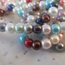 Mixed Glass Pearls, 6mm - 2 Strands
