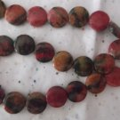 Red Turtle Jasper Coins - 1 Strand
