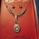 Crystal Drop Neckace and Earrings