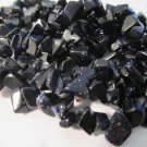 """Blue Goldstone Medium Chips - 36"""" Strand"""