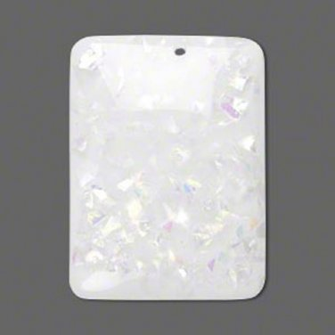 Opatescent White Resin Drops - Set of 10