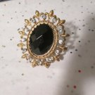 Black and Gold Stretchy Statement Ring