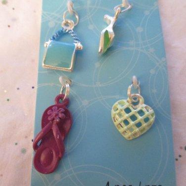 4 Charms - Flipflp, Purse, Highheel and Heart