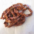 "Brown Goldstone Glass Chips 36"" Strand"