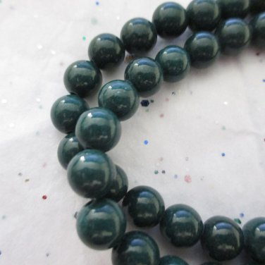 "Dark Green Mountain Jade, 6mm - 1 16"" Strand"