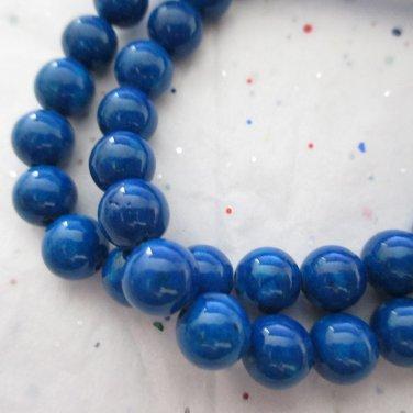 "Dark Blue Mountain Jade, 6mm - 1 16"" Strand"