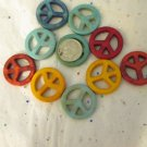 20 Peace Sign Beads - 25mm