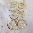 "Gold Tone Fashion Circle Earrings - 5"" Long"