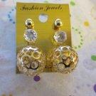 Set Of 3 Gold Tone Post earrings