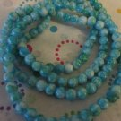 "Blue and White  Mix Beads, 6mm - 30"" Strand"