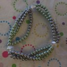 Grey 3 Strand Stretchy Bracelet