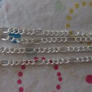 2mm Silver Plated Figaro Chain - 5'