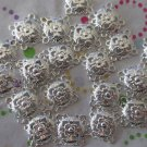 Silver Filigree Sqaure 15mm - Set of 24