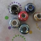 Porcelain Euro Beads - 6 Beads