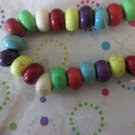 Mixed Color Howlite Euro Beads