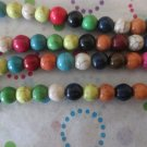 8mm Mixed Color Howlite Beads