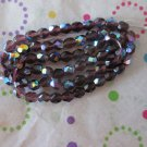 Purple Faceted Round Beads - 1 Strand