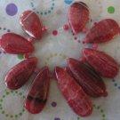 Rhodonite  Graduated Teardrop Beads