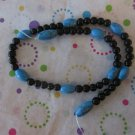 Black Obsidian and Imitation Turquoise - 2 Strands
