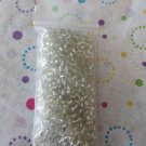 Clear Seed Beads with Silver Lining