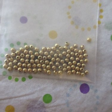 2.5mm Gold Plated Round Beads
