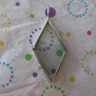 Silver Plated Hinged  Picture Frame Glass Pendant