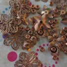 Copper Tone Flowers and Beads