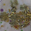 Gold Tone Flowers and Beads