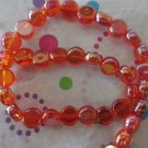 Red Coin Beads with AB Finish
