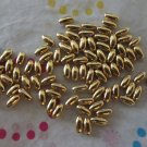 Oval Gold Plated Beads 4x2mm - Set of 100