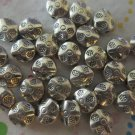 Silver Flower Rondelle Beads - Set of 25